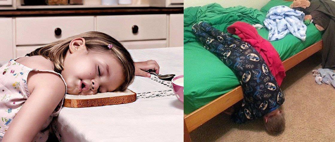 Detičky, ktoré prehrali boj s únavou!