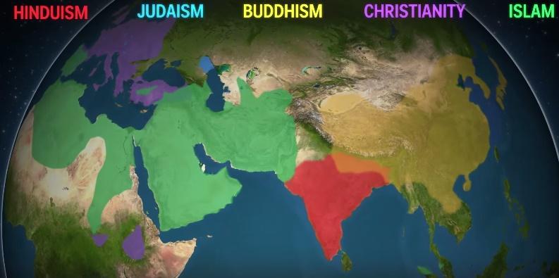 Ako sa šíria najväčšie svetové náboženstvá? VIDEO!