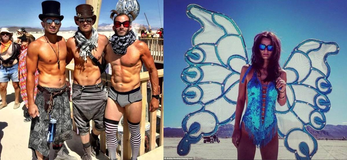 Vitajte v púšti RAVE. Festival Burning man 2015 prinesol všemožné kostýmy!
