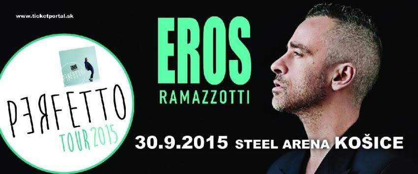 Do Košickej STEEL arény prichádza popová ikona Eros Ramazzotti!