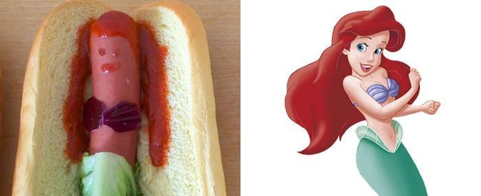 Vychutnajte si Disney princezné v podobe hot-dogov!