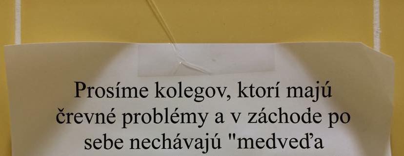Odkaz pre kolegov, ktorí majú črevné problémy :D