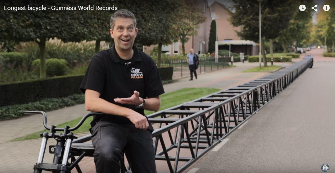 Najdlhší bicykel sveta zapísaný do Guinessovej knihy rekordov! Hádaj koľko meria!