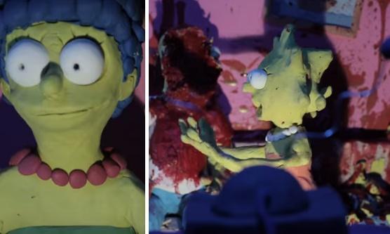 Hororoví Simpsonovci! Krv, krik a sekery v hlavách môžete vidieť v tomto videu!