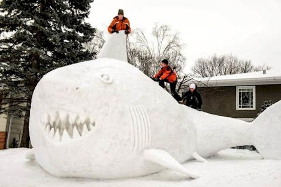 Pozrite si senzačné snehové sochy. Trúfate si?