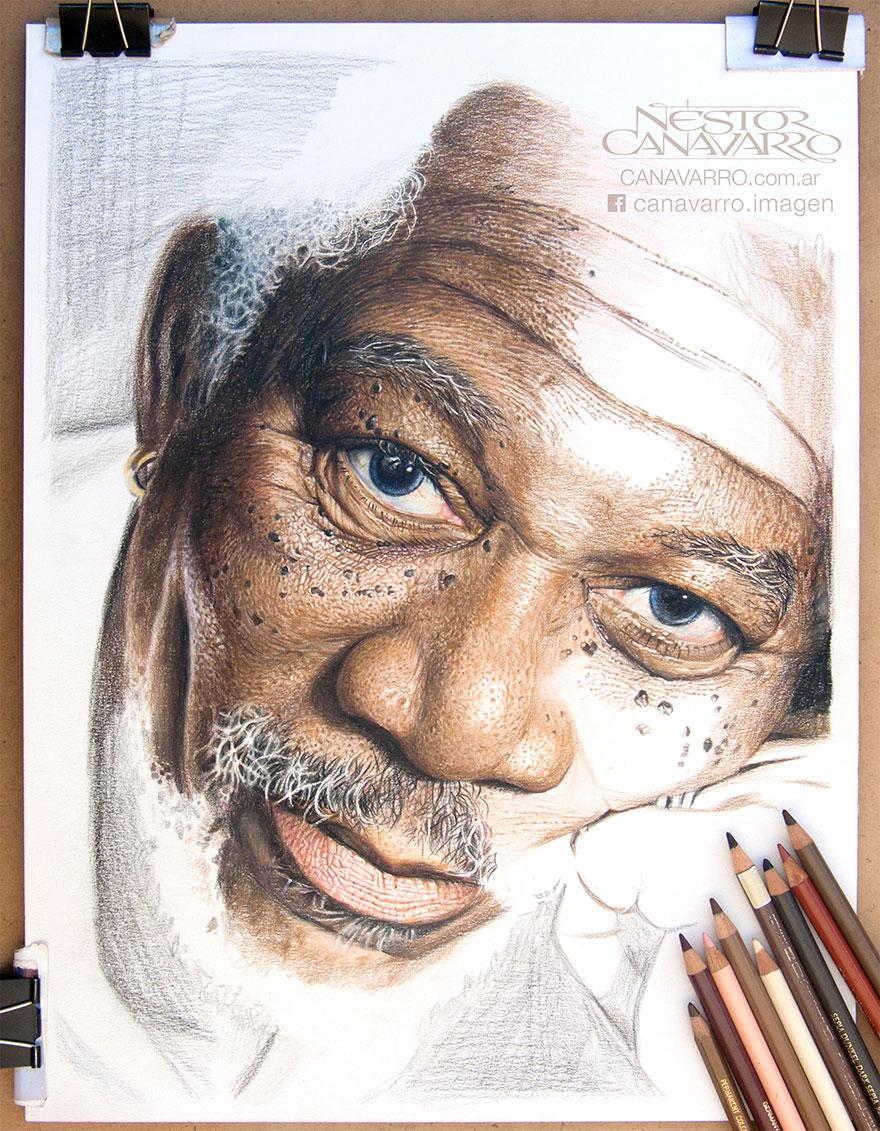 Morgan Freeman ako živý! Umelec ho zvečnil iba ceruzkou