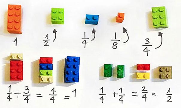 Pomocou Lego kociek vysvetľuje matematické počty!