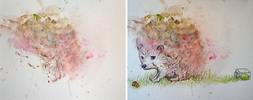 Mama mení detské kresby svojej dcéry na nádherné diela