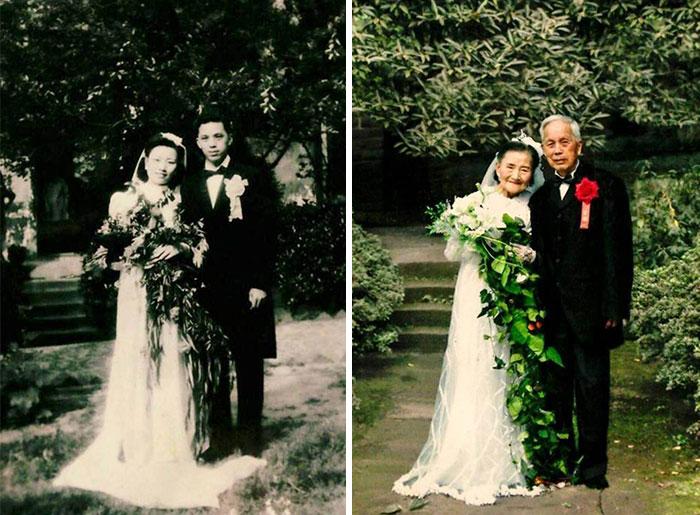 Po 70. rokoch spoločného života nafotili svadobné fotky opäť