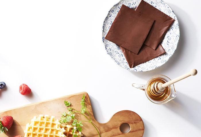 Lahodné plátky čokolády balené ako toustový syr? Super nápad!