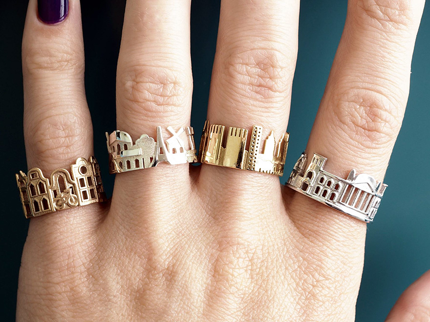 Srbská zlatníčka sa pri tvorbe prsteňov inšpiruje známymi metropolami!