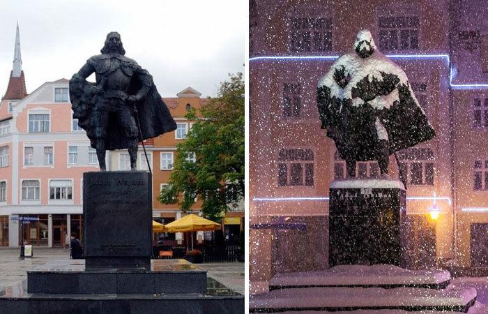 Poľská socha odkryla svoju pravú tvár! Áno, je to Darth Vader