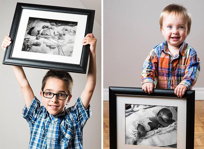 Čaro a sila života zachytená v obrazoch: Portréty predčasne narodených detí pred a po