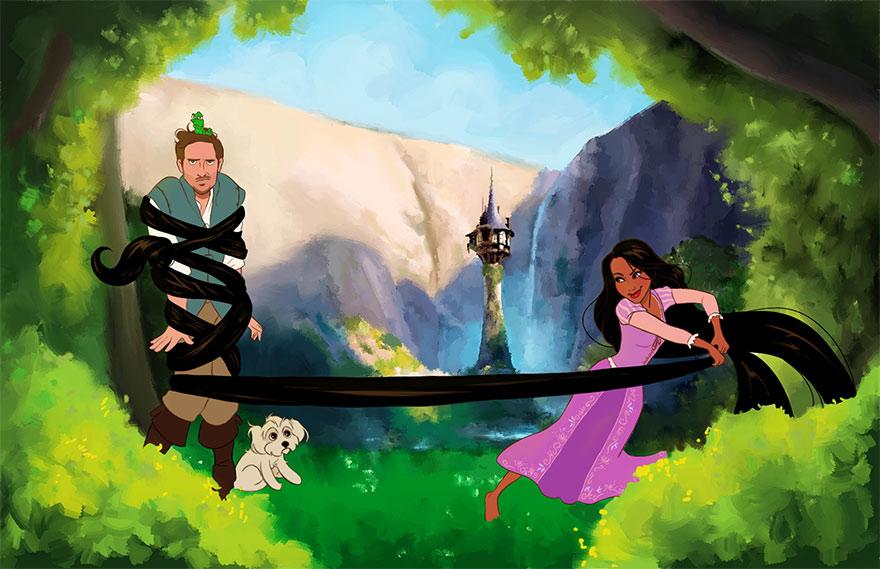 Priateľ premenil na Valentína svoju priateľku na Disney princeznú