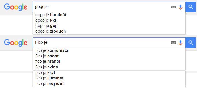 Čo si myslí Google o známych ľuďoch?