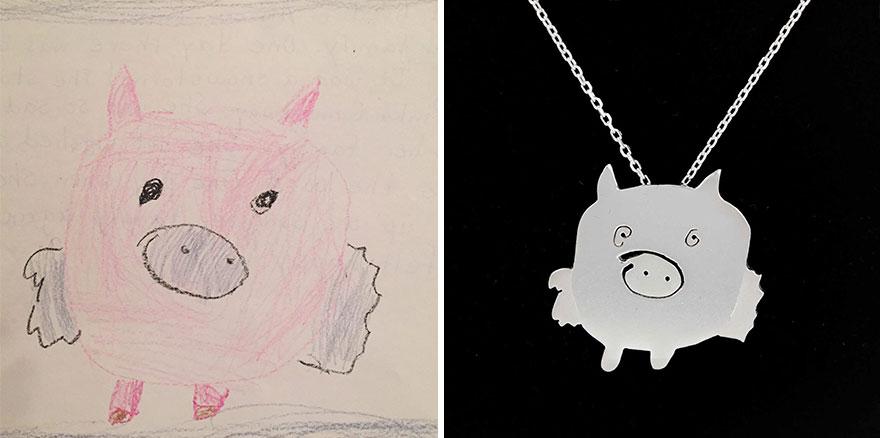 Detské kresby ako podklad na tvorbu šperkov? Prečo, nie!