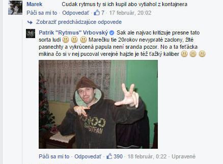 Takto HEJTEROV ničí RYTMUS. Na svojej FB stránke im nič nedaruje!