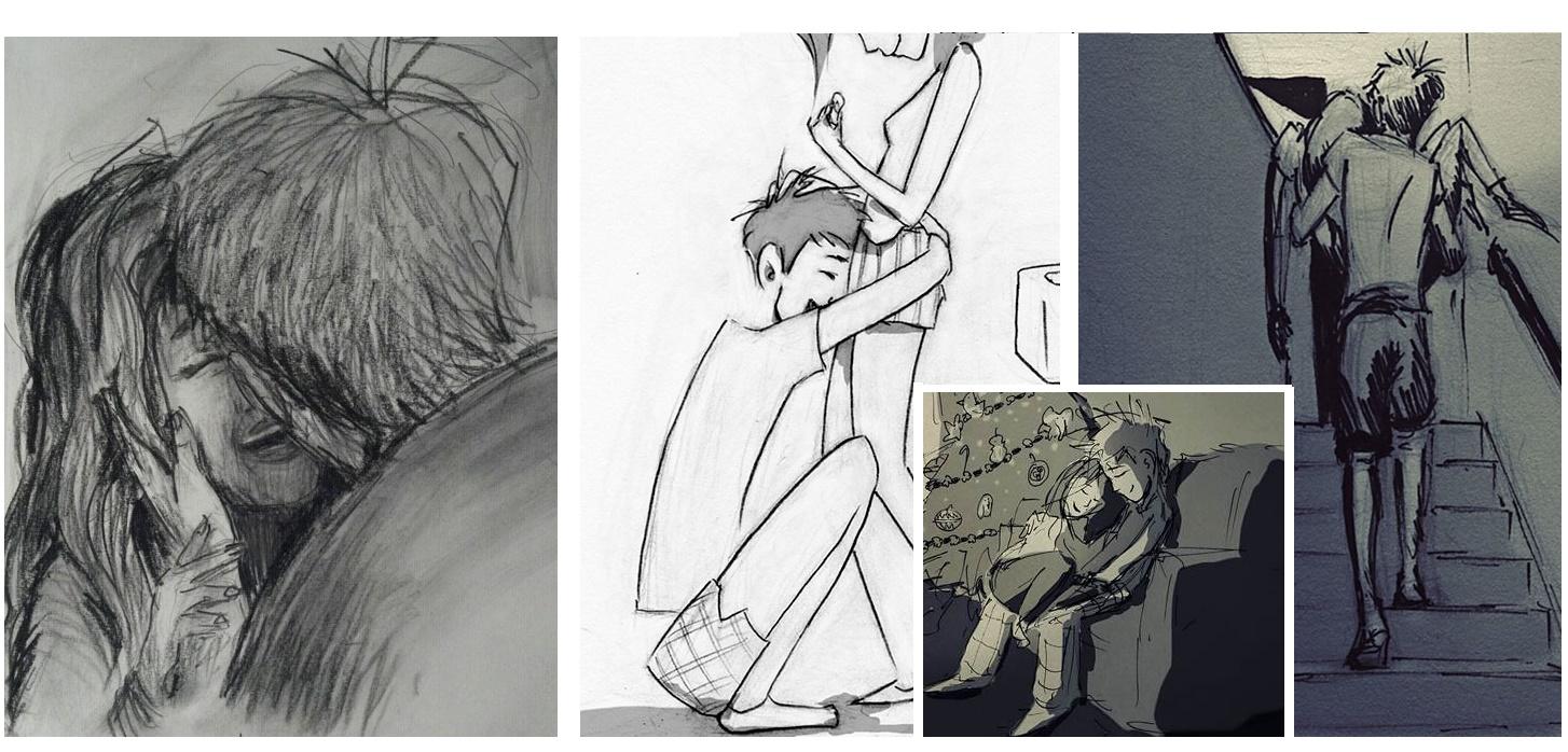 Momenty obyčajných dní, ktoré strávil so svojou rodinou, prekreslil ceruzkou