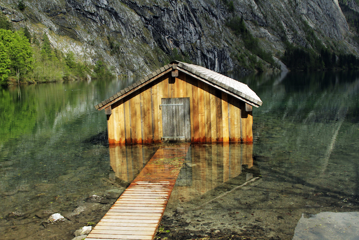 Boathouse on the Obersee in Bavaria, Germany. http://cabinporn.com/post/51733850557/boathouse-on-the-obersee-in-bavaria-germany