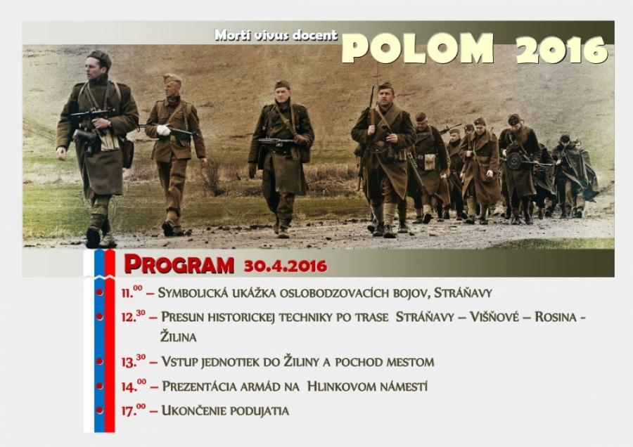 Druhá svetová vojna je za dverami! Rekonštrukcia bojov o Polom už 30.4.2016!