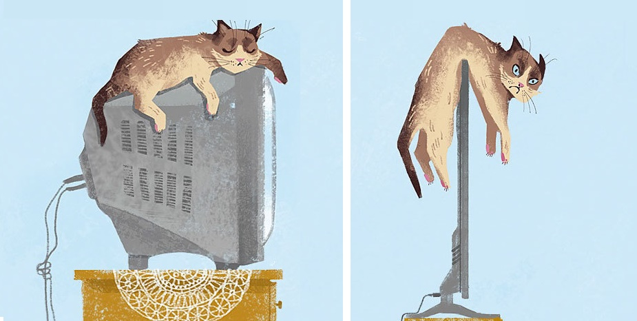 Aj mačací život ovplyvňuje dnešná doba. Fotky plné zamyslenia sa!