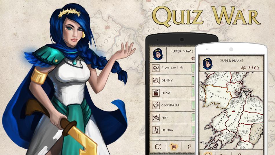 Quiz War – Nová vedomostná hra od slovenských tvorcov