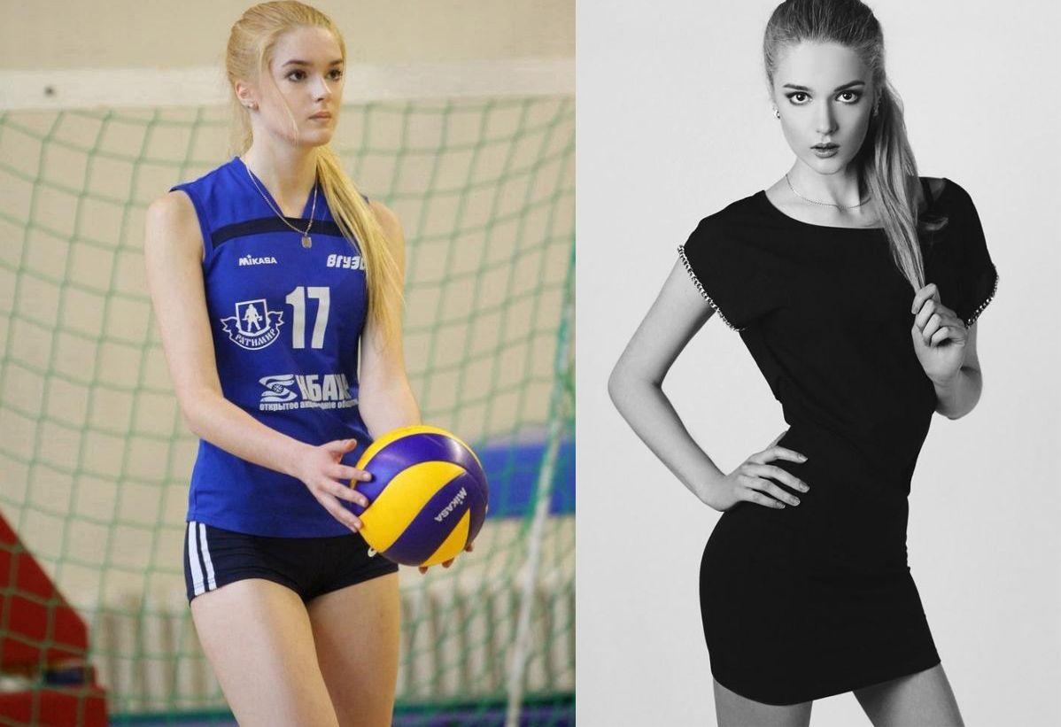 Pravdepodobne jedna z najkrajších volejbalistiek! Krásne dlhé nohy a blond vlasy ju robia nesmierne krásnou!