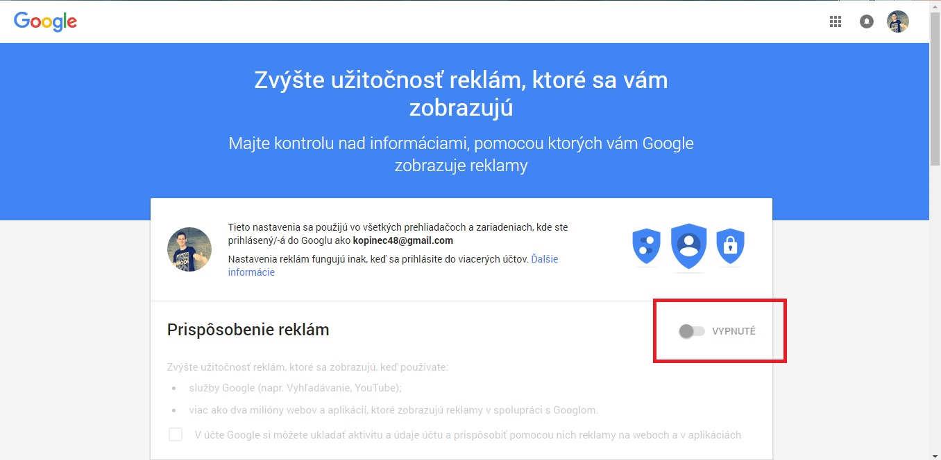 Teraz si už môžeš vybrať, akú reklamu ti Google zobrazí!