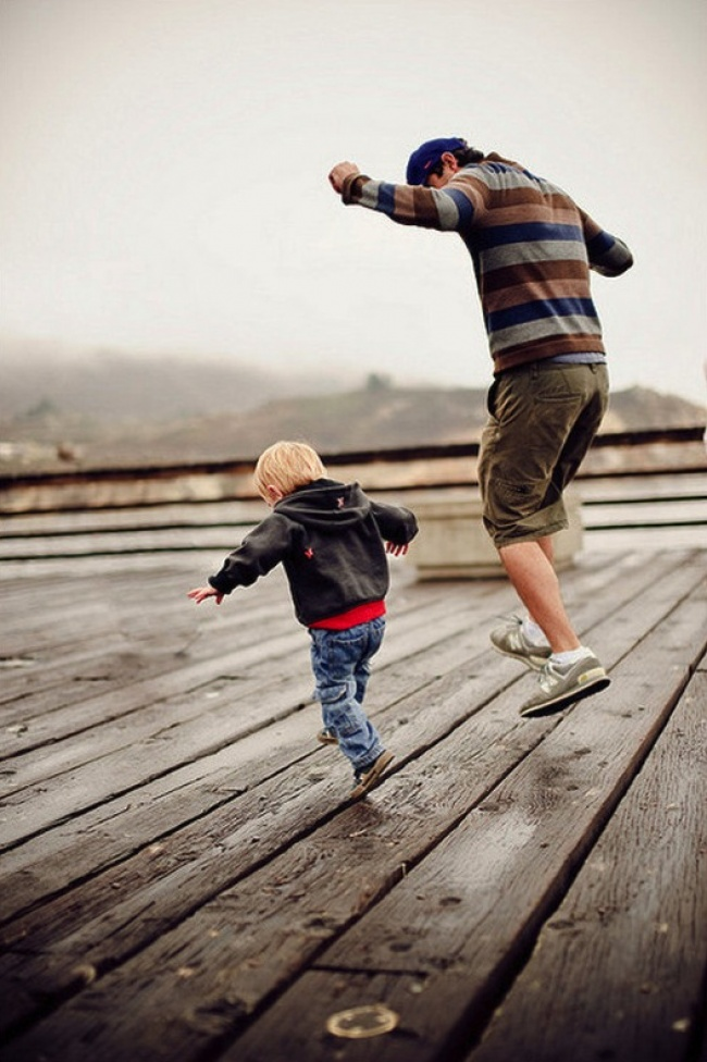 Krásne fotky otcov a synov! Vzájomná podoba a láska ich robia výnimočnými