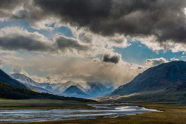 Tavan Bodg, Altaj, Mongolsko, protisvetlo
