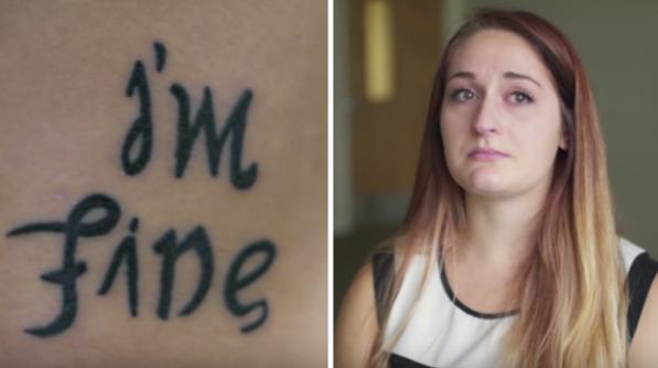 """Dievča si nechalo vytetovať nápis """"I´M FINE."""" Tetovanie však zmení význam, keď sa naň pozrieš z opačnej strany!"""