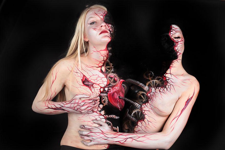 Nemka maľuje brilantné maľby na ľudské telo! Tieto zábery MUSÍŠ vidieť!