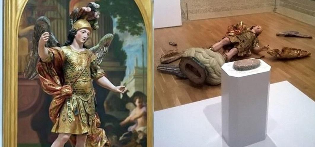 Turista zničil 400-ročnú sochu po tom, ako si išiel spraviť selfie