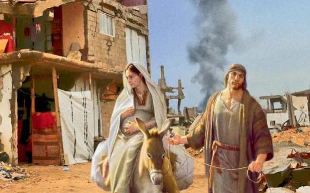 Vianočné pohľadnice so Svätou rodinou vo vojnových zónach!
