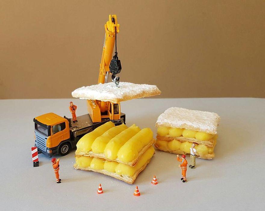 Taliansky cukrár púta pozornosť miniatúrnym svetom, ktorý vytvára za pomoci dezertov