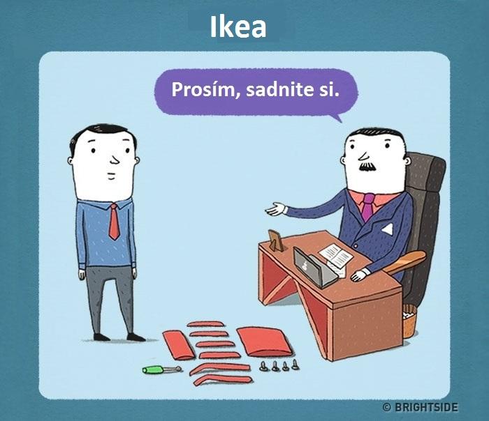 Ako by mohol vyzerať pracovný pohovor v známych firmách? Vtipné ilustrácie ti to ukážu!