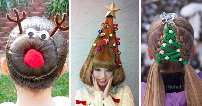 Vianoce nie sú len o typických vianočných svetroch, zaujať môžeš i kreatívnym účesom!