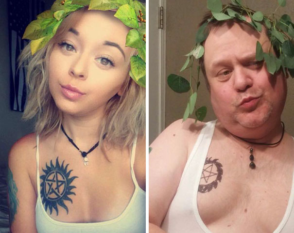 Muž, ktorý sa preslávil napodobňovaním fotografií jeho dcéry, má teraz 2x viac followerov než ona