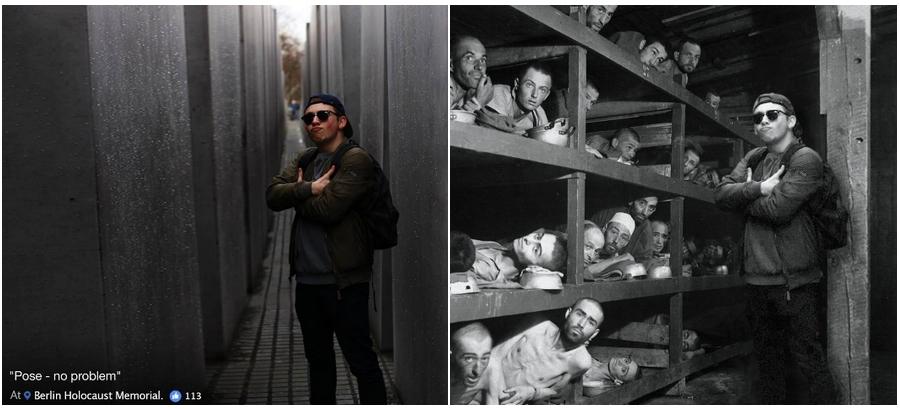 Yolocaust: projekt, ktorý upravuje hlúpe selfíčka z Berlínskeho Pamätníku holokaustu