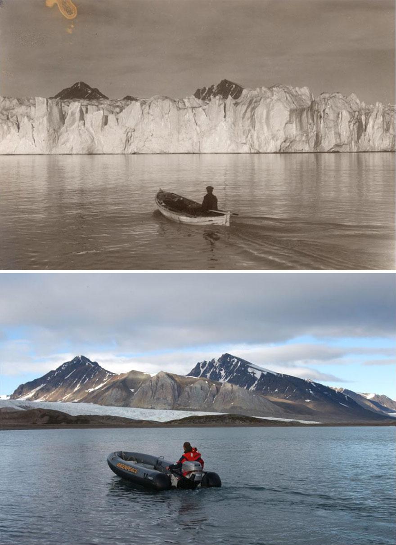 Šokujúce fotky ukazujú, čo 100 rokov klimatických zmien urobilo s arktickými ľadovcami. Nebudete veriť vlastným očiam