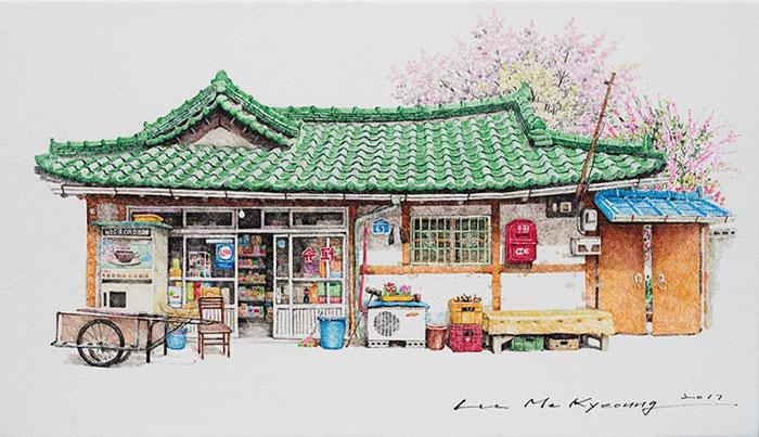 Fascinuje vás Južná Kórea? Tento umelec strávil 20 rokov kreslením obchodíkov na tomto krásnom území