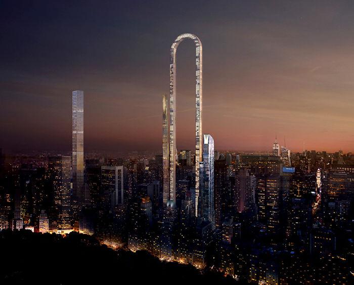 """Nové dvojičky? Tento ohromujúci mrakodrap v tvare opačného """"U"""" bude v New Yorku čoskoro realitou"""