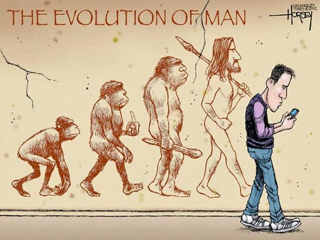 Tieto silné a satirické ilustrácie o evolúcii ťa donútia zamyslieť sa nad tým, kde sme sa dostali