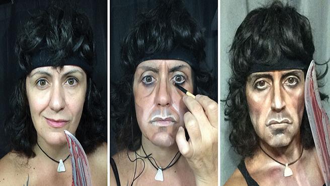 Britská make-up artistka je ženou mnohých tvárí! Dokáže sa zmeniť na kráľovnú Alžbetu, Rockyho či Ramba
