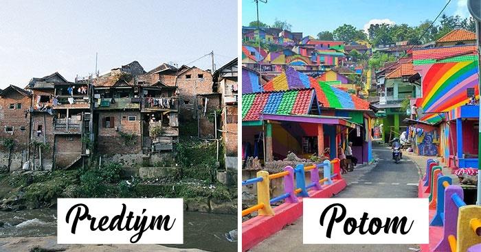 Indonézska vláda investovala viac ako 20-tisíc dolárov na rekonštrukciu chudobnej štvrte, ktorá sa zmenila na dúhovú lokalitu