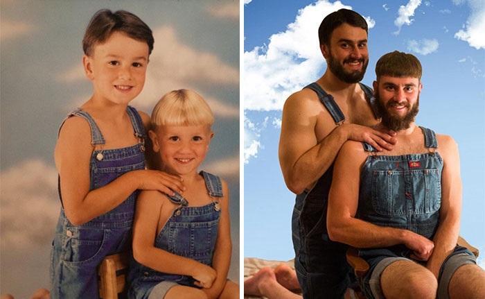 Ľudia sa rozhodli obnoviť fotografie z detstva. Pri týchto záberoch sa rozplačeš od smiechu!
