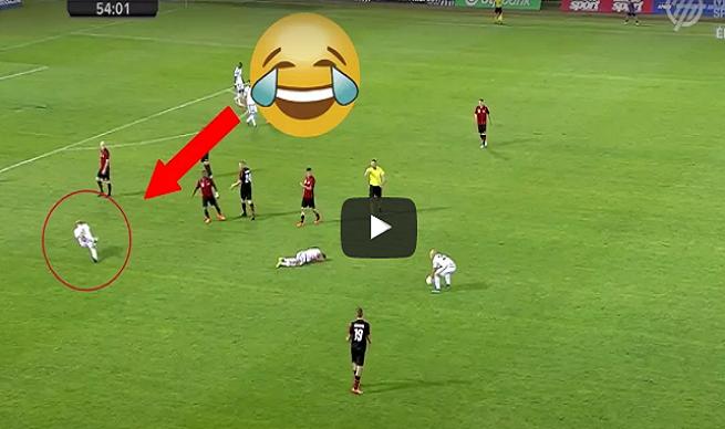 VIDEO: Futbalista predviedol poriadne divadielko a teatrálnym pádom zosmiešnil nielen seba, ale všetkých hráčov futbalu