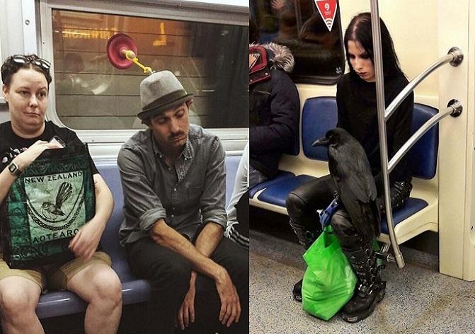 Verejnú dopravu občas využívajú aj poriadni podivíni. Toto všetko stretli ľudia v metre