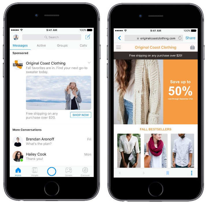 Reklamy v Messengeri hneď po spustení aplikácie. Už čoskoro!