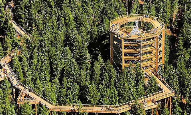 Česká republika ponúka svojim turistom jedinečný zážitok. Prejsť sa tu môžete v korunách stromoch a užiť si bláznivé atrakcie